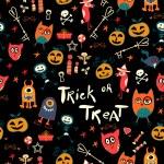 Halloween Seamless trick-or-treat pattern — Stock Vector