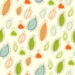 Stock Vector: Seamless pattern with leaf