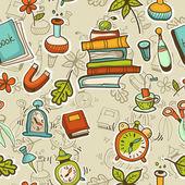 Social media cartoon icons colorful seamless pattern . — Stock Vector