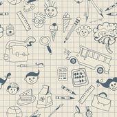 Seamless School pattern background — Stock Vector