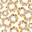 Vector seamless background: autumn maple leaves on white. — Imagen vectorial