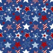 Stock Vector: Stars and stripes seamless pattern