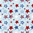American stars and stripes seamless pattern — Stock Vector