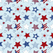 American stars and stripes seamless pattern — Stock Vector #30646687