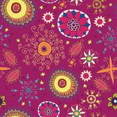 Çiçekler. çiçekler, el çizimi, vektör ile sorunsuz — Stok Vektör