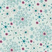 λουλουδάτο μοτίβο άνευ ραφής, ατελείωτες υφή με τα περίτεχνα λουλούδια. — Διανυσματικό Αρχείο