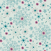 Floral seamless pattern, endless texture with ornate flowers. — Stock Vector