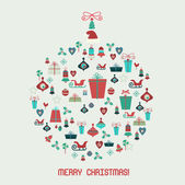 Christmas Icons collection. Christmas balls — Stock Vector