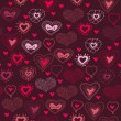 Romantic seamless pattern with hearts — Stock Vector #31875635