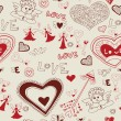 Valentine's day lovely seamless texture — Stockvectorbeeld