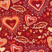 Amor coração bonito padrão sem emenda — Vetorial Stock