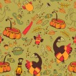 The pattern for the autumn holidays — Stock Vector