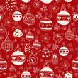 Red Christmas Seamless Pattern. — Imagen vectorial