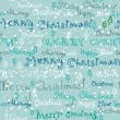 Seamless cute handwritten christmas text — Vettoriali Stock