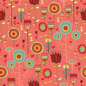 Floral seamless pattern with flowers — Stock Vector