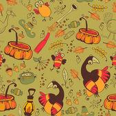 秋の休日のためのパターン — ストックベクタ