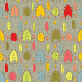秋の葉の背景の葉とのシームレスなパターン — ストックベクタ