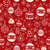 Red Christmas Seamless Pattern. — Stock Vector