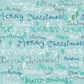 Seamless cute handwritten christmas text — Stock Vector