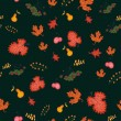 Autumn seamless background, vector illustration. — Stock Vector #32708483