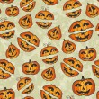 Halloween pumpkins pattern. Cute seamless — Image vectorielle
