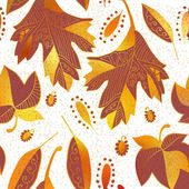 Vector seamless background: autumn — Stock Vector