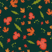 Autumn seamless background, vector illustration. — Stock Vector