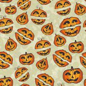 Halloween pumpkins pattern. Cute seamless — Stock Vector