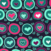 Seamless heart pattern for valentine's day — Stock Vector