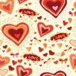 St. Valentine background love seamless — Imagen vectorial
