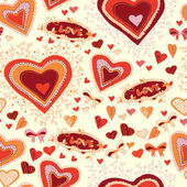 St. Valentine background love seamless — Vector de stock