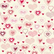 Seamless pattern with valentine hearts — Vector de stock