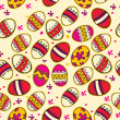 Pattern with colorful Easter eggs. — Stock Vector
