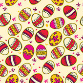 Pattern with colorful Easter eggs. — Vector de stock