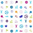 Vector bright sports icons set — Stock Vector