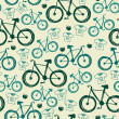 Vector seamless pattern with bicycles — Stock Vector