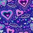 Romantic seamless pattern with hearts — Stock vektor