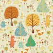 Seamless pattern  in childish cartoon style — Векторная иллюстрация
