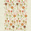 Cartoon floral seamless pattern — Stok Vektör
