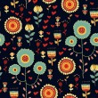 Floral seamless pattern with flowers — Imagen vectorial