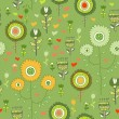 Seamless flower pattern background in vector — Imagen vectorial