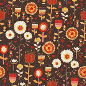 Vintage flowers on the dark background — Stockvector