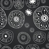 Vector chalkboard seamless floral pattern — Stock Vector