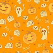 Muster mit Halloween-Objekten. — Stockvektor