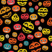 Halloween holiday, seamless background — Vector de stock