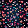 Seamless heart pattern for valentine's day — Imagen vectorial