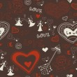 Valentine wallpaper. Seamless. Love. Romantic. — Stockvectorbeeld