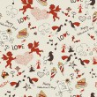 Valentine wallpaper. Seamless. Love. Romantic — Imagen vectorial