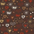 Bright seamless pattern with hearts. — Imagen vectorial