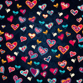 Seamless heart pattern for valentine's day — Wektor stockowy